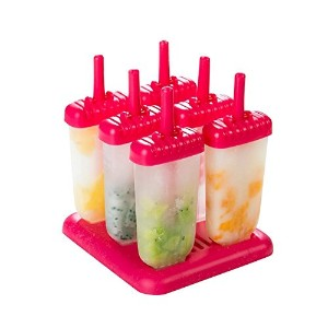 ugetde Popsicle Moldsセット – 6の再利用可能な氷クリームmolds- Washable , Ice Pop Molds