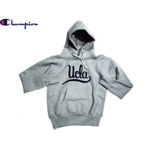 "CHAMPION(チャンピオン)/CLASSIC COLLAGE REVERSE WEAVE PULLOVER HOODIE ""UCLA""/made in U.S.A./ox grey"