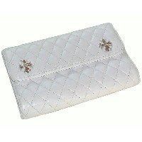 CHROME HEARTS WAVE WALLET QUILTED WHITE LEATHER クロムハーツ WAVEウォレット キルティング ホワイトレザー CHプラス