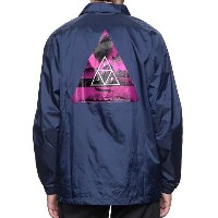 HUF Dimensions Coaches Jacket Navy S コーチジャケット