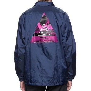 HUF Dimensions Coaches Jacket Navy XL コーチジャケット