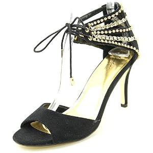 Thalia Sodi Womens EVAHLY Open Toe Special Occasion Strappy Sandals, Black, Size 9.5