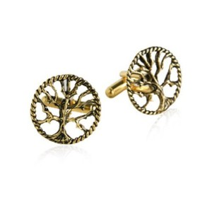 Tree of Life Cufflinks in Gold by Jewelry Mountain