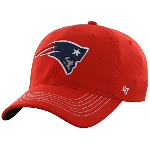 NFL新しいEngland Patriots ' 47ブランドGame Time Closer Stretch Fit Hat レッド