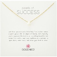 """Dogeared Pearls of Success、スモールホワイトパール、チェーンネックレス、16"""" + 2"""" Extender 16""""+2"""""""