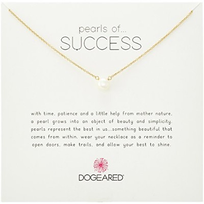 """Dogeared Pearls of Success、スモールホワイトパール、チェーンネックレス、16 """" + 2 """" Extender 16""""+2"""""""