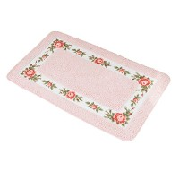 Zhhlinyuan 良質 Pastoral Roses Livingroom バスルーム Absorbent Carpet Home Soft Non-slip Rectangle Floor...