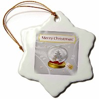 3dローズBeverly Turnerクリスマスデザイン – 鹿、ツリースノードーム、Merry Christmas to My Daughter – Ornaments 3 inch...
