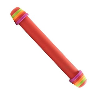ORKA A11870 Silicone Rolling Pin, Large, Red by Mastrad