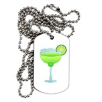 TooLoud Green Margarita withライム – Cinco de Mayo大人用犬タグチェーンネックレス
