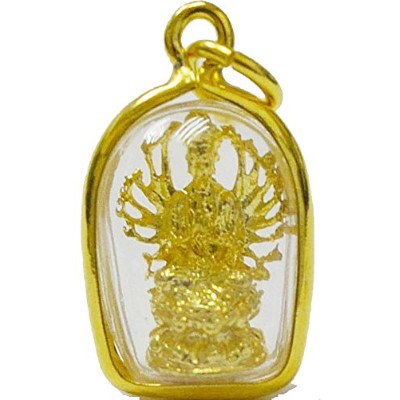 Lucky God Mini Kuan Yin Quan Im Mini Amulet Blessing for Success Happy Luckyペンダント
