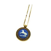 "Authentic Wedgwood "" HORSEあばれ馬"" necklace- gold-plate"