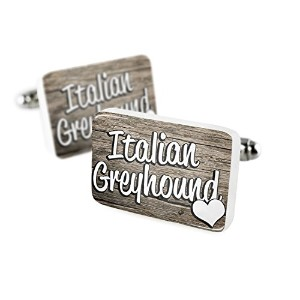 Cufflinks Italian Greyhound , dog breedイタリア磁器セラミックNEONBLOND
