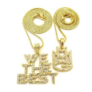 Iced Out ' MMG ' & We The Bestペンダント&ボックスチェーンヒップホップネックレスセット–rc2166g
