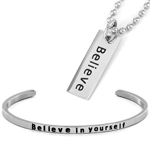 「Believe」ブレスレットとペンダントセット