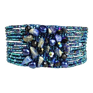 Enchanted Imports Gem Cluster Bracelet with Magnetic Clasp、ハンドメイドのグアテマラ