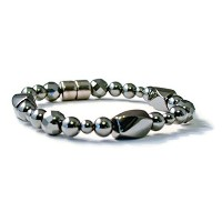 beads-n-styleブラック高電源磁気ヘマタイトTherapeutic Pain Reliefブレスレット