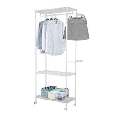 Livens Dress Room Hanger Rack 3 Stage White [海外直送品]