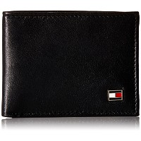 Tommy Hilfiger トミーフィルフィガー 財布 メンズ 財布 Men's Leather Ranger Pass case Wallet (Black)
