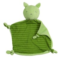 green sprouts Organic Blankie Animal Fox, Green, 3 Months Plus by green sprouts
