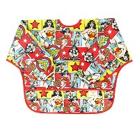 Bumkins DC Comics Sleeved Bib, Wonder Woman Comic, 6-24 Months by Bumkins