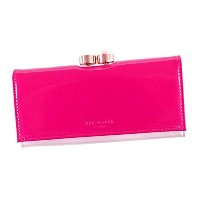 Ted Baker (テッドベーカー) 長財布 CECILIE D.PK 133846 PEARL BOBBLE PATENT MATINEE FUCHSIA [並行輸入品]