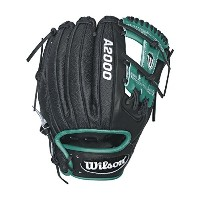 Wilson A2000 RC22 SuperSkin Robinson Cano Baseball Glove, Black/Mariner Green/White, Right Hand...