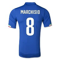 PUMA MARCHISIO #8 ITALY HOME JERSEY WORLD CUP 2014(Authetic Name and Number)/サッカーユニフォーム イタリア ホーム用...