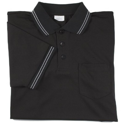 (4X-Large, Black) - Adams USA Smitty Major League Style Short Sleeve Umpire Shirt with Front Chest...