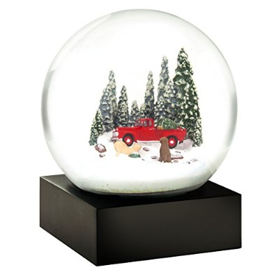 (Red Truck with Dogs) - Red Truck Dogs Christmas Tree Snow Globe by Cool Snow Globes