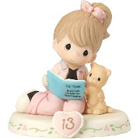 Precious Moments 162012b誕生日ギフト、Growing in Grace、年齢13、Bisque Porcelain Figurine , Brunette Girl by...