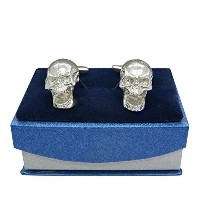 "「ラグジュアリーFineスチームパンクScreaming Skull "" Pewter Cufflinks、Handcast by William Sturt"