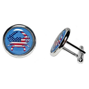 American Flag Designer Cuff Links forビジネスや結婚式、