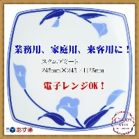 CANION WITS ブルーリリー 9524 BLUE LILY 【 スクエアミートプレート 】 あす楽対応 業務用 新生活 カフェ ランチ ディナー レストラン シンプル 上品 洋食器 陶器...