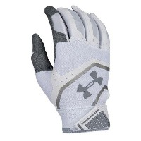 アンダーアーマー メンズ 野球 グローブ【Under Armour Cage IV Batting Gloves】White/Grey