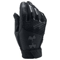 アンダーアーマー メンズ 野球 グローブ【Under Armour Clean-up Batting Gloves】Black/Black/Graphite