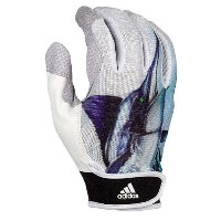 アディダス メンズ 野球 グローブ【adidas adiZero 2.0 Uncaged Batting Gloves】White/Marlin