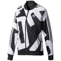 アディダス レディース アウター ジャージ【adidas Originals Bold Age Super Star Track Top】Black/White