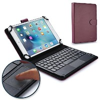 Asus Memo Pad 8, 8 LTE キーボード ケース COOPER TOUCHPAD EXECUTIVE 2-in-1 ワイヤレス Bluetooth キーボード マウス レザー...