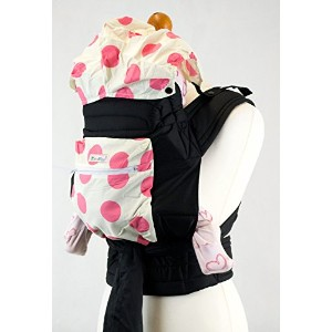 Pink Spots Spots Floral Mei Tai Baby Sling Carrier With Hood and Pocket by Palm&Pond