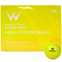 WOSS(ウォズ) HIGH COLOR HIGH COLOR BALL(12ヶ) ユニセックス HIGH COLOR イエロー