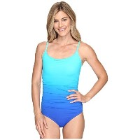 SpeedoレディースOmbre Shirred One Piece Swimsuit ブルー
