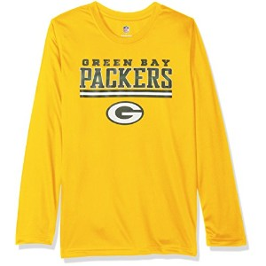 NFL Packersパフォーマンス長袖Tee – gold-m ( 10 – 12 )