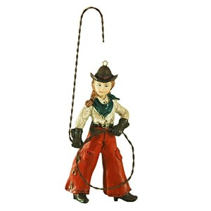 Western Cowgirl Lasso Lariat Hanging Ornament