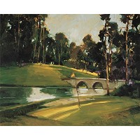 """"""" The 9th Tee """" by Ted Goerschner、アートジークレーギャラリーラップキャンバスの印刷、ハングする準備"""