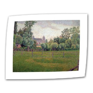 "Church at Gisors by Camille Pissarro Rolledキャンバスwith 2インチAccent Border 14"" x 18"" 0pis001a1418r"
