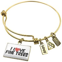 Expandable Wire BangleブレスレットI Love PINE TREES、NEONBLOND