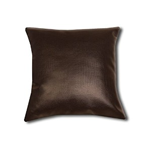 Throw Pillow with Bondedレザーカバー