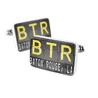 Cufflinks BTR Airportコードfor Baton Rouge , La磁器セラミックNEONBLOND