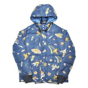 WEIRDO SPACE TARGET - DOWN JACKET (NAVY) ウィアード 総柄 ダウンジャケット/GLADHAND【GANGSTERVILLE/ギャングスタービル/OLD...